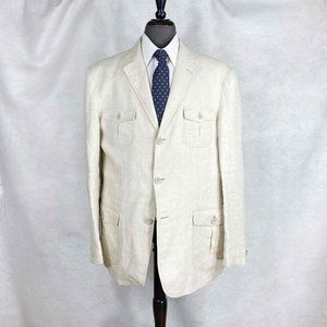 Giorgio Armani Black Label beige cotton blazer